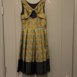 Anthropologie Girl From Savoy fit and flare dress